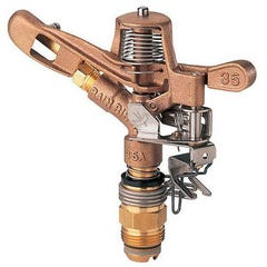 "35ADJTNTB – ¾"" Inlet Brass Impact Sprinkler"