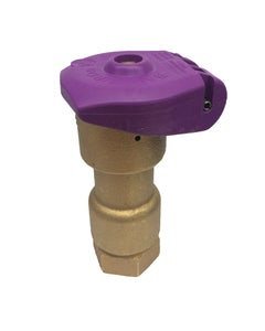 5NP Non-Potable Quick Coupling 1 inch Valve, 1-Piece Body, Purple Locking Rubber Cover