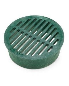 DG6RFG - 6 inch Plastic Round Flat Drainage Grate - Green