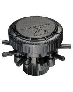 MANIFPR9S - Drip Irrigation 9 Port Pressure Regulating Manifold with Adjustable Flow and On/Off