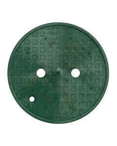 PVB10RNDGL - 10 in. Round PVB Valve Box - Green Lid Only