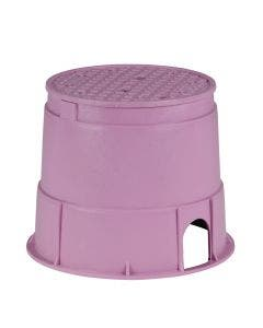 PVB10RNDP - 10 in. Round PVB Valve Box - Purple Body & Overlapping Purple Lid