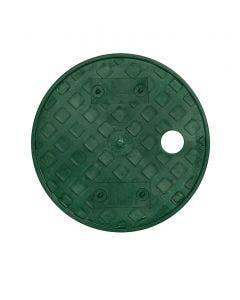 PVB6RNDGL - 6 in. Round PVB Valve Box - Overlapping Green Lid Only