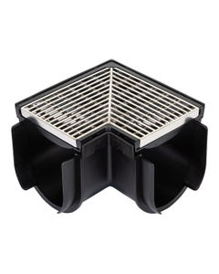 "DCDCOR5AR – 5"" Deep Channel Drain Corner, Architecture Grate"
