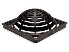 DG12SAB - 12 inch Plastic Square Atrium Drainage Grate - Black