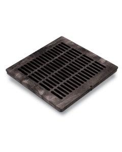 DG18SFB - 18 inch Plastic Square Flat Drainage Grate - Black