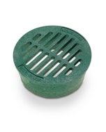 DG4RFG - 4 inch Plastic Round Flat Drainage Grate - Green