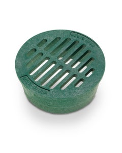 DG4RFG - 4 inch Plastic Round Flat Drainage Grate - Green