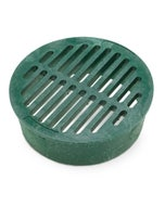 DG6RFG - 6 inch Plastic Round Flat Drainage Grate - Green