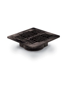 DG7USB - 7 inch Square Plastic Universal Drainage Grate - Black