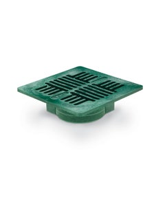 DG7USG - 7 inch Square Plastic Universal Drainage Grate - Green