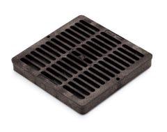 DG9SFB - 9 inch Plastic Square Flat Drainage Grate - Black
