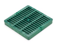 DG9SFG - 9 inch Plastic Square Flat Drainage Grate - Green
