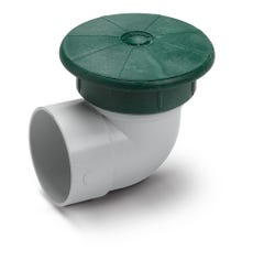 DPUV3E - Drainage Pop Up Relief Valve with 3 Inch PVC Elbow
