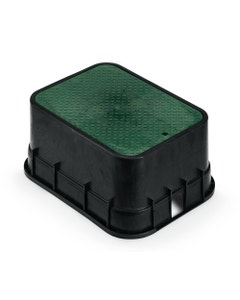 PVBJMB - 12 in. PVB Jumbo Valve Box - Black Body & Drop-in Green Lid