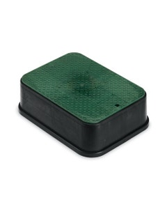 PVBJMBEXT - 6 in. PVB Jumbo Valve Box Extension - Black Body & Overlapping Green Lid