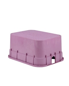 PVBJMBP - 12 in. PVB Jumbo Valve Box - Purple Body & Drop-in Purple Lid