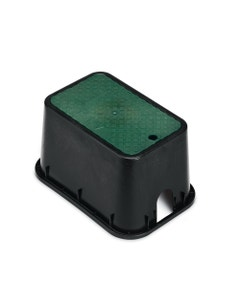 PVBMST - 10 in. PVB Mini Standard Valve Box - Black Body & Drop-in Green Lid