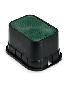 PVBSTD - 12 in. PVB Standard Valve Box - Black Body & Drop-in Green Lid