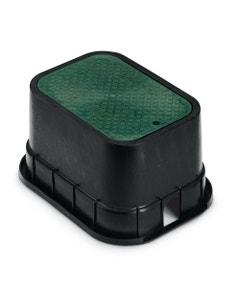 PVBSTD - 12 in. PVB Standard Valve Box - Black Body & Drop-in Green Lid