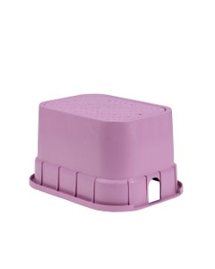 PVBSTDP - 12 in. PVB Standard Valve Box - Purple Body & Drop-in Purple Lid