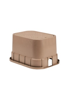PVBSTDT - 12 in. PVB Standard Valve Box - Tan Body & Drop-in Tan Lid