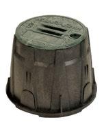 VB10RNDH - 10 in. Round Valve Box - Green Lid & Lock