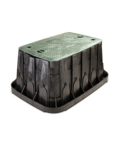 VBSPRH - Super Jumbo Valve Box - Black Body With Green Lid + 2 Locks
