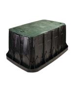 VBMAXH - Maxi Jumbo Valve Box - Black Body With Green Lid + 2 Locks