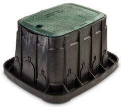 VBREC12 - 12 in. Rectangular Valve Box - Green Lid