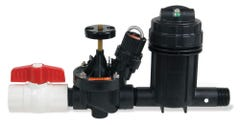XCZ100PRBCOM - Wide Flow Commercial Control Zone Kit with 1 in. Ball Valve, 1 in. PESB Valve & 1 in. Pressure Regulating (40 psi) Basket Filter