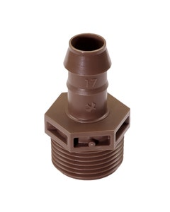 XFFMA075 - Barb Male Adapter - 17mm x 3/4 in. MPT